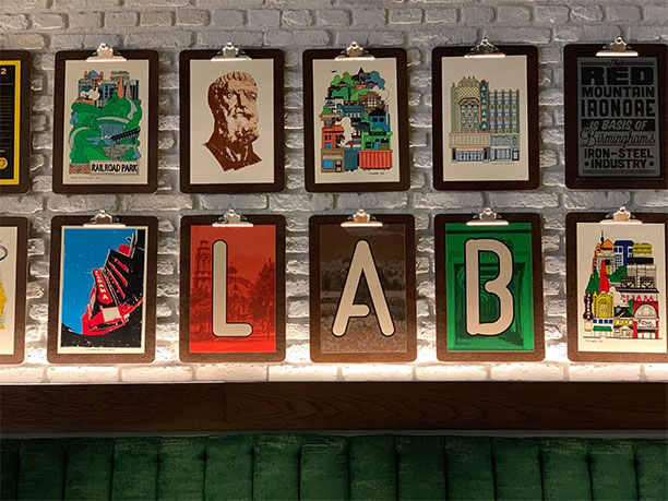 The Lab Bar and Kitchen Wall Art